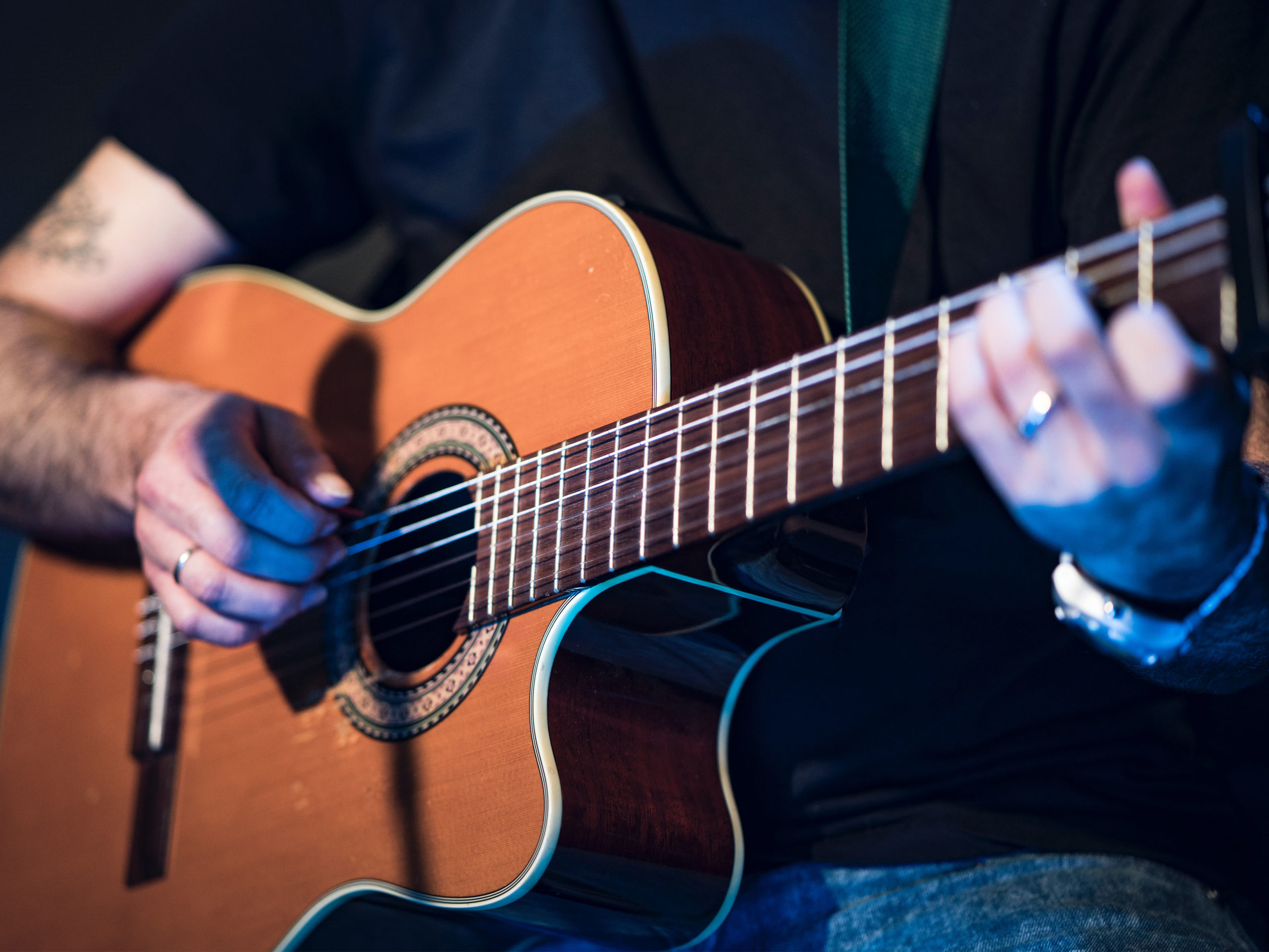 Acoustic Guitar Performance in Listening Room at Foundry